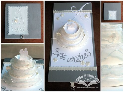 Wedding Card I am absolutely LOVING Sizzix 39s Mat Board with the popup