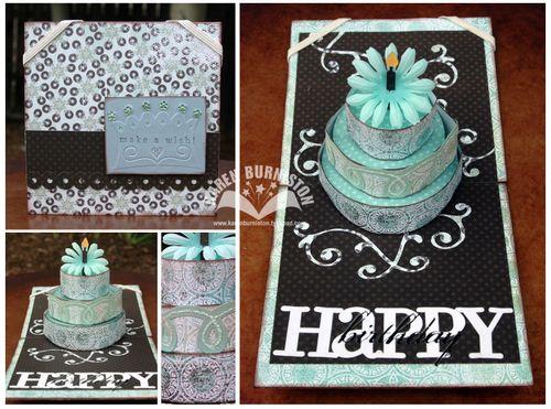 Blue Brown Birthday Card