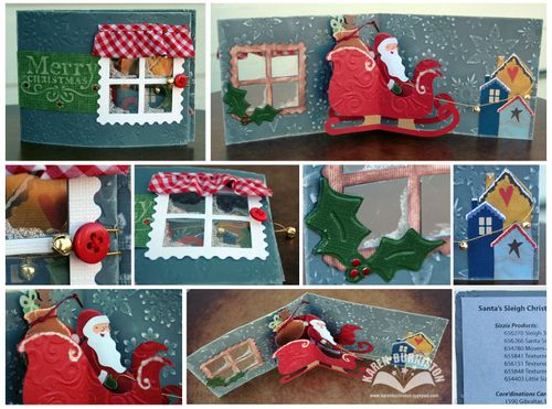 Santas Sleigh Sample Card CHAS 09