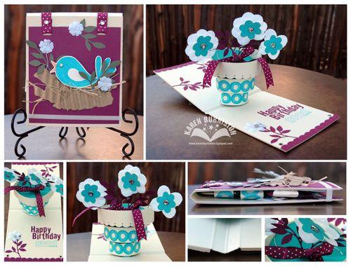 SU Flower Pot Birthday Card