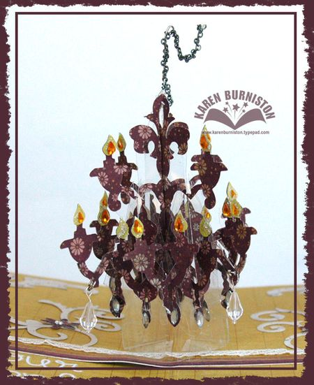 Beauty Bloom Card Chandelier