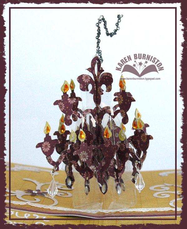 Beauty Bloom Card Chandelier