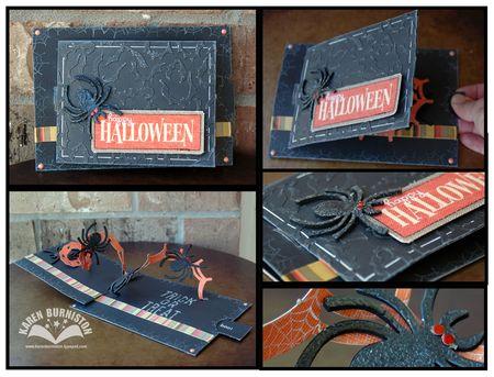 Spooky Spiders Flip Card