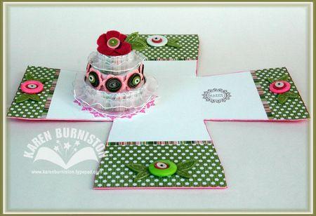 3 Birthday Cake in a Box Open
