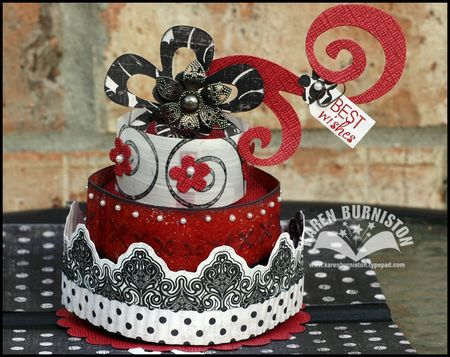 03 black red cake card cake