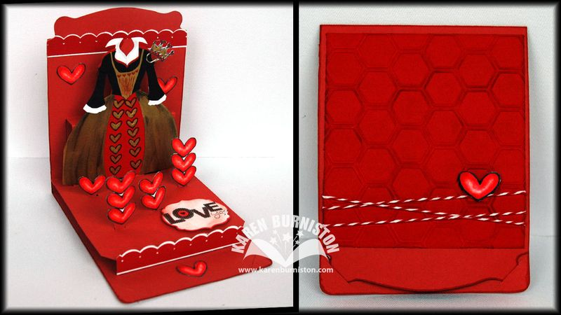 01 Stampin Up Queen of Hearts Card