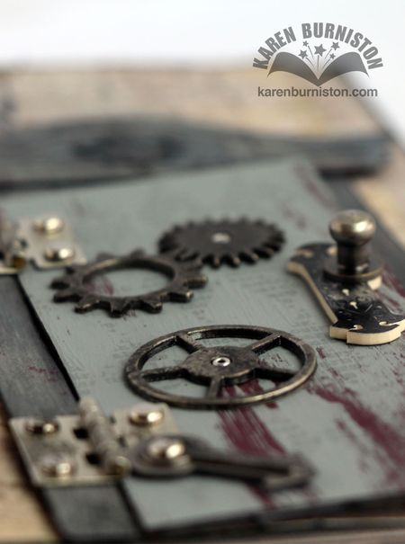 Steampunk Door Card Side View