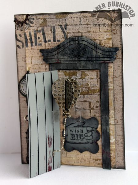 Steampunk Door Card Open