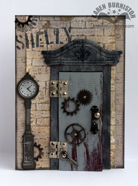 Steampunk Door Card Closed