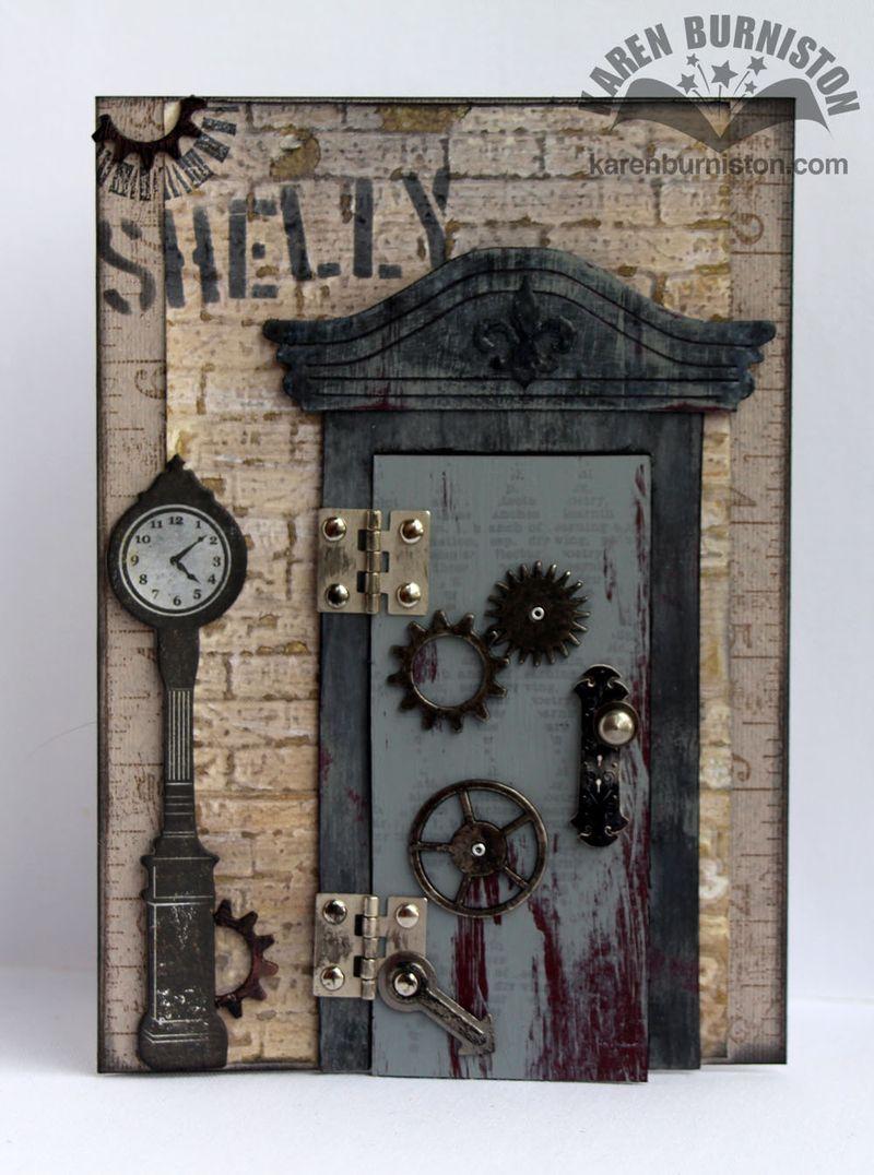 & Steampunk Door Card Closed