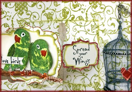 Love Birds Card Detail3