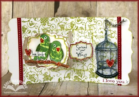 Love Birds Card Open