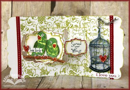 Love Birds Card Open
