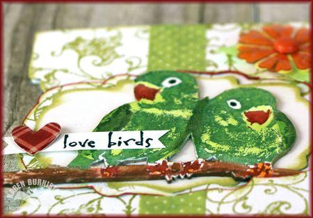 Love Birds Card Detail1