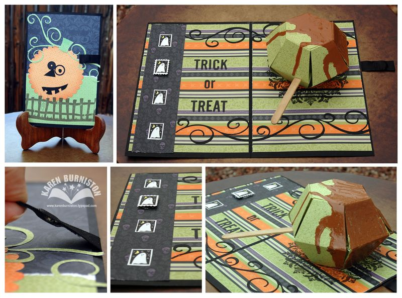 SU Caramel Apple Halloween Card