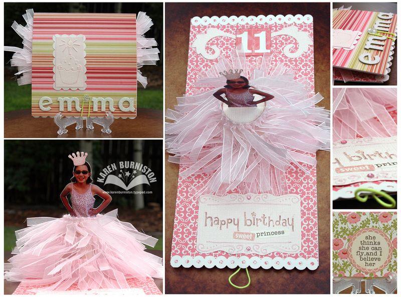 Emma Princess Birthday Card