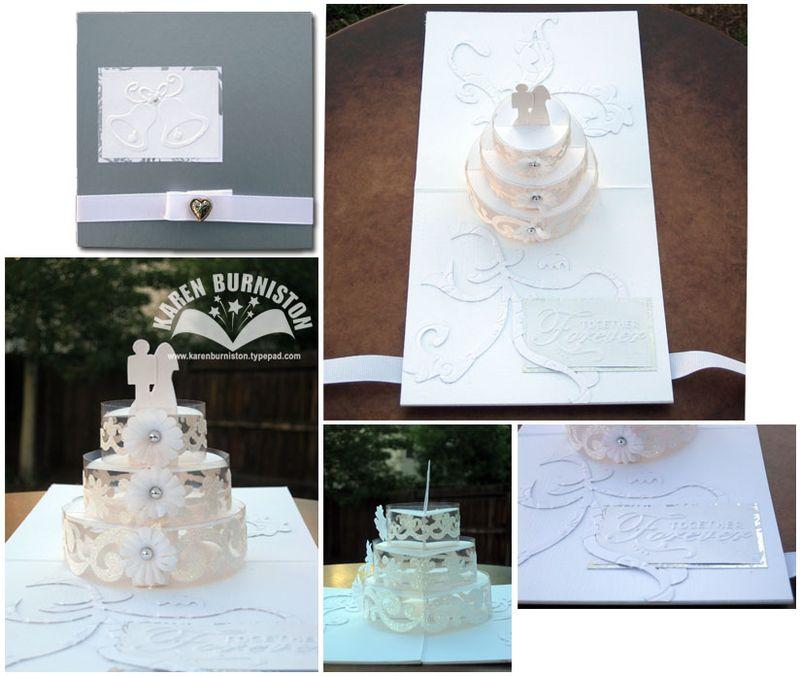 Together Forever Wedding Cake
