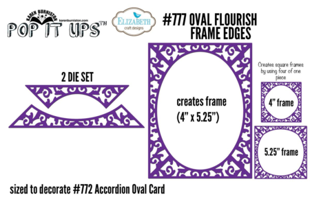 777 Oval Flourish Frame Edges NP