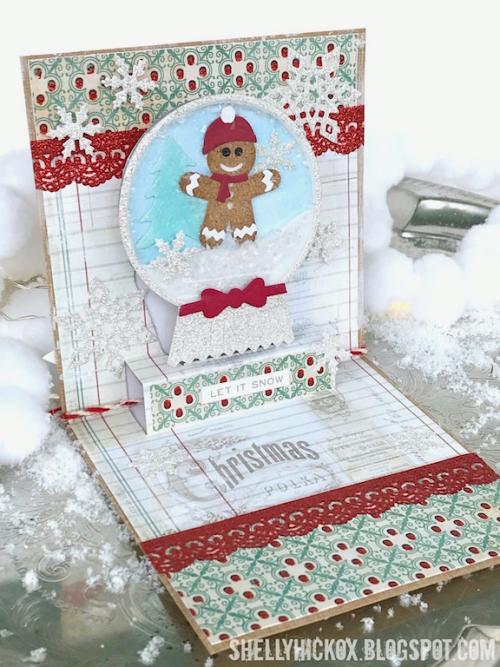 Shelly hickox gingerbread snow globe shaker