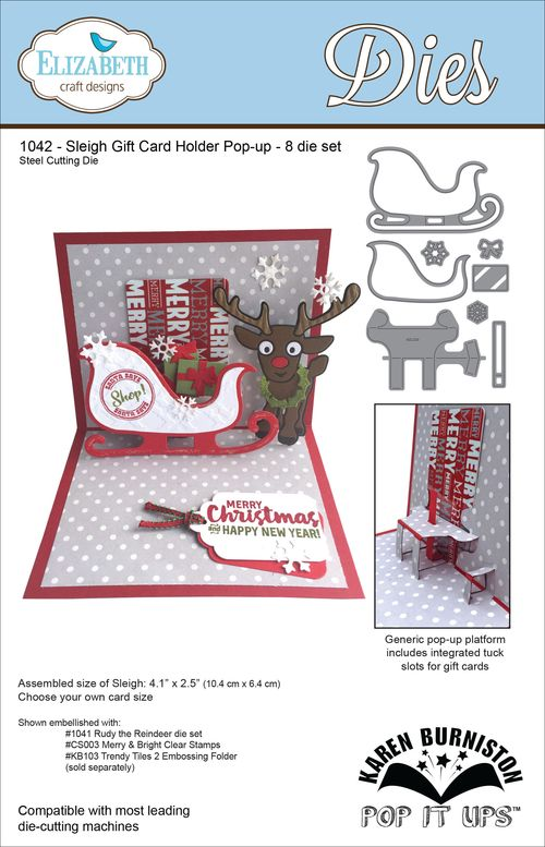 1042_Sleigh Gift Card Holder
