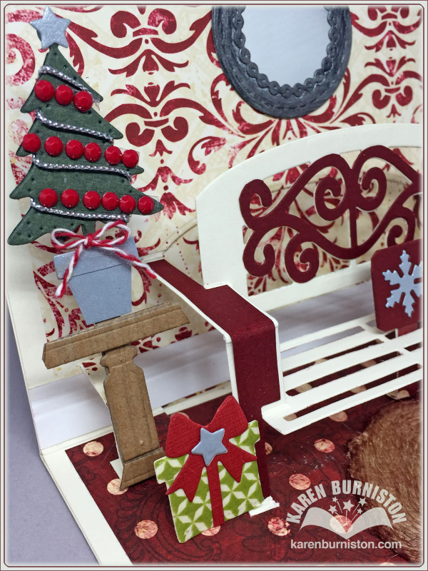 I Am Not Left Handed Christmas Version Garden Bench Pop Up