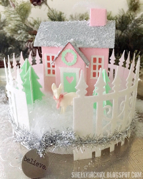 Shelly hickox pastel holiday putz house