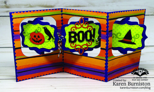 Halloween Charm Accordion Open