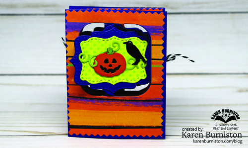 Halloween Charm Accordion Closed