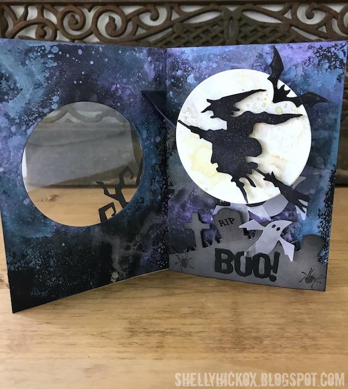 Shelly hickox pop up halloween card
