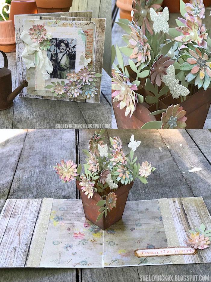 Shelly hickox pop up flower pot card