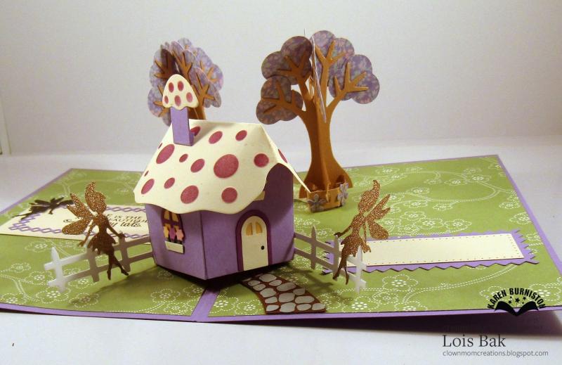 Mushroom Fairy Garden inside close