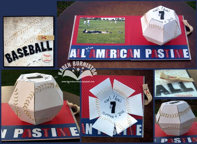 01 Sizzix Pop Up Die Projects Baseball Card