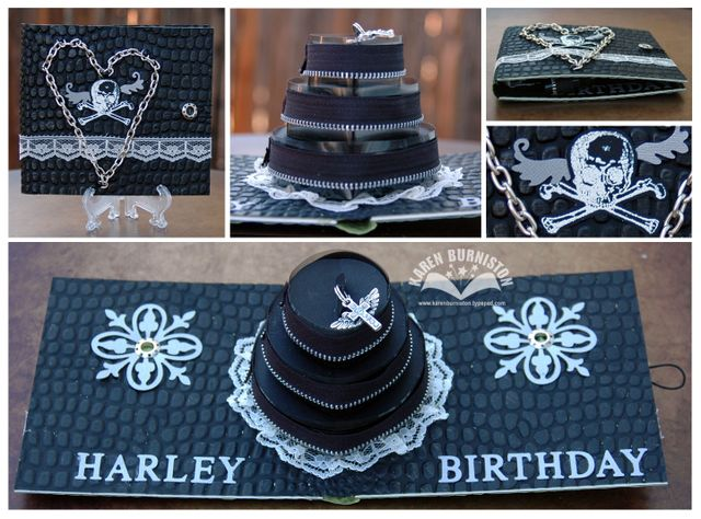 01 Sizzix Pop Up Die Projects Harley Birthday Card